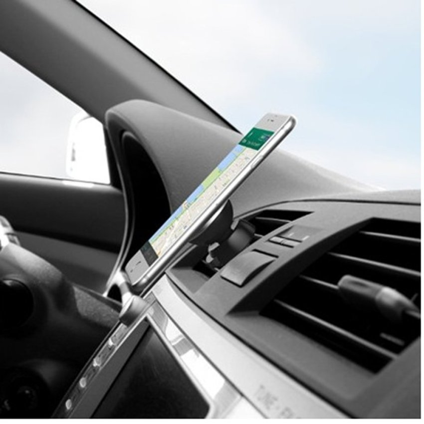 High Quality Cell Phone Car Magnetic Air Vent Mount Hand Phone Holder (Black) (Intl)