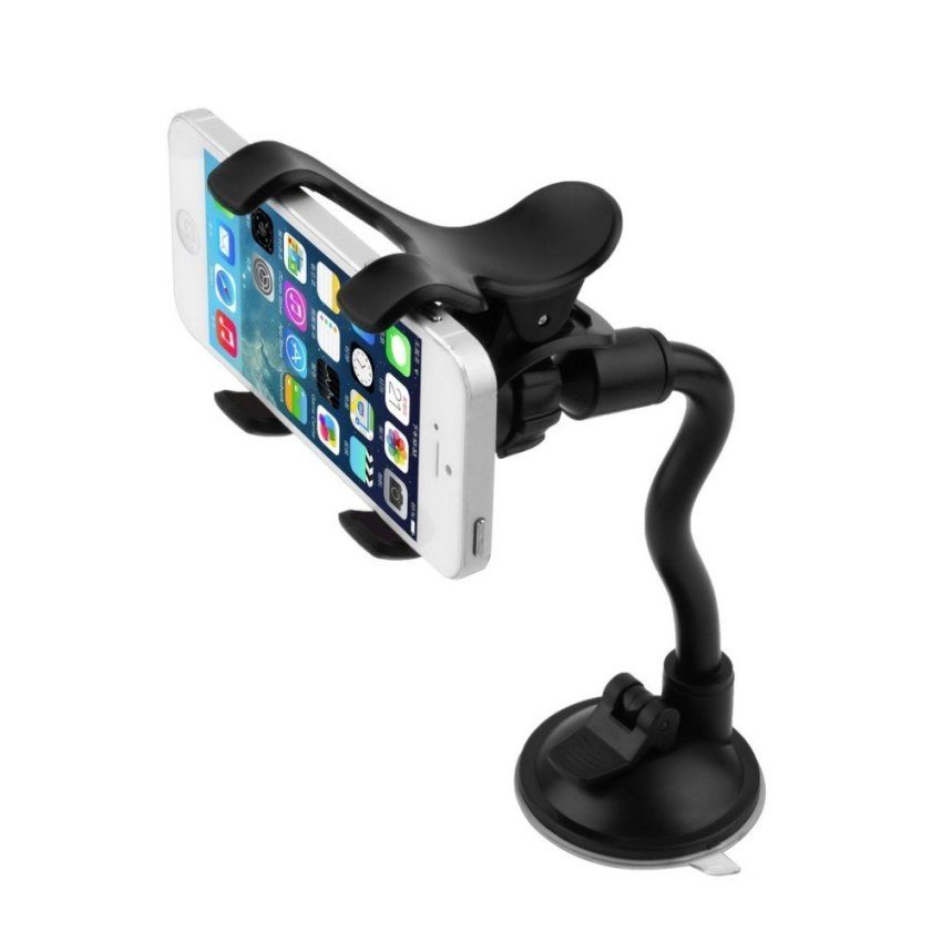 Hight Quality Car Mount Holder 360 Rotation Windshield Bracket for GPS Mobile Phone Wholesale (Black) (Intl)