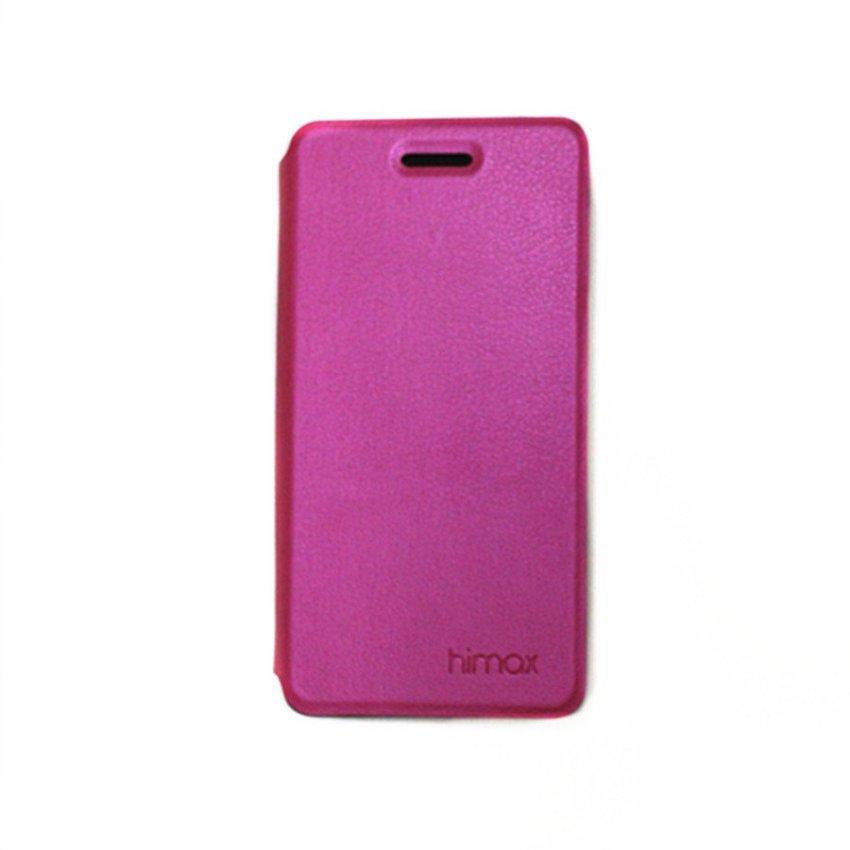 Himax Flip Case Tipe Y11 - Merah Muda