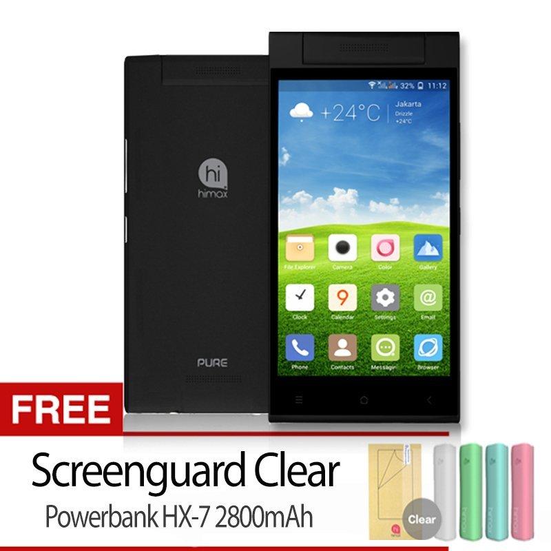 Himax Pure III - 16GB - Hitam + Gratis Screenguard + Powerbank HX-7