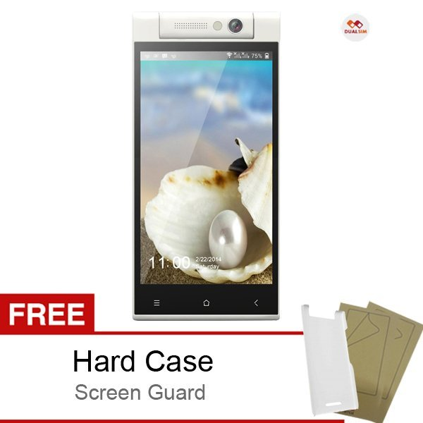 Himax Pure III Octa Core - Dual SIM - Putih + Bonus Hard Case & Screen Guard