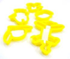 HK B801 Pemotong Kue Bentuk Pooh dia. 6.5 s/d 12cm set 5pc - Kuning