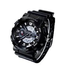 Hogakeji SKMEI Fashion Student Dual Time Wrist Watches (Black)