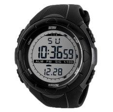 Hogakeji Skmei Mens Fashion Military Sports Wrist Watch (Black)