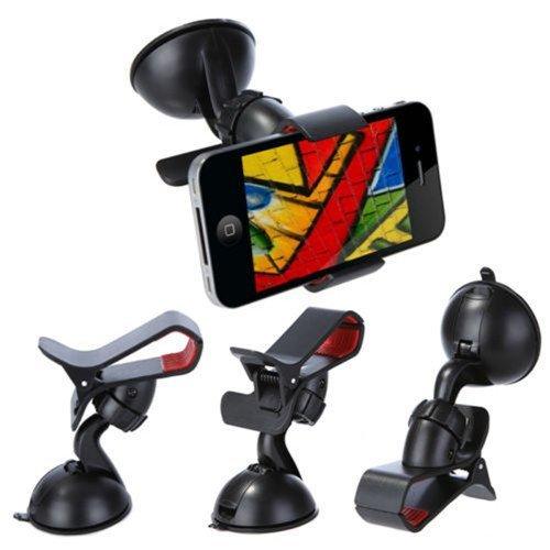 Hot 360 Degrees Car Mobile Phone Holder Dashboard Mobile Mount Car Kit Mobile Phone Holder GPS Car Mount (Intl)