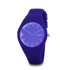 Hot Selling Jelly Silicone Geneva Watch Relogio Feminino Fashion Women Wristwatch Casual Luxury Watches (Purple)