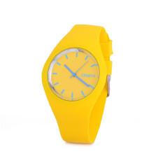 Hot Selling Jelly Silicone Geneva Watch Relogio Feminino Fashion Women Wristwatch Casual Luxury Watches (Yellow)