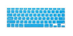 HRH Arabic Silicone Keyboard Cover Skin For Apple Macbook Pro Retina MAC 1.15 17 Air 13 (Turquoise) - Intl