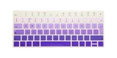 HRH Hot New English Silicone Keyboard Cover Protector Film Skin For Apple Magic Keyboard MLA22B / A EU Keyboard Layout (Gradient Purple) - Intl