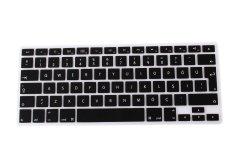HRH Turkish Silicone EU Keyboard Cover Skin For Apple Macbook Pro Retina 1.15 17 MAC Air 13 (Black)