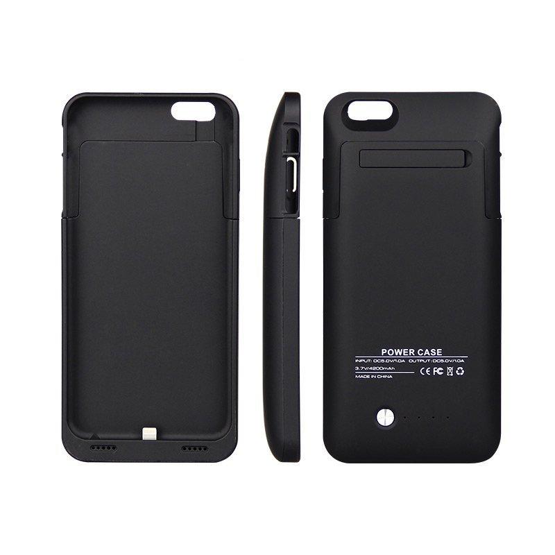 HUYU iPhone6 Plus Battery Power Slim Case Juice Pack Bumper - Black