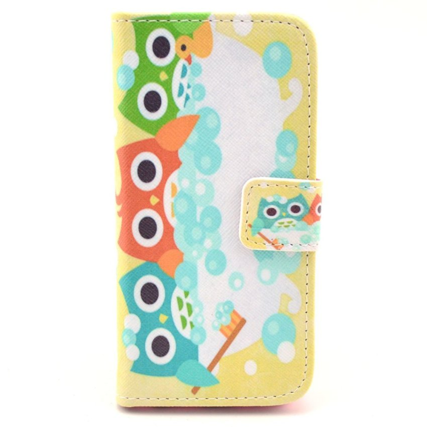 HXGRAND High Quality PU Leather Flip Stand Wallet Card Slot Bracket Back Cover for iPhone 5C