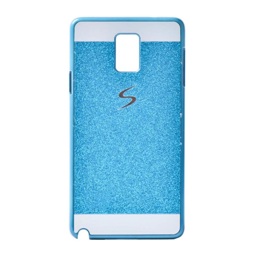 I3C Bling Glitter Sparkle Hard Back Case Cover for Samsung Galaxy Note 3 Sky Blue
