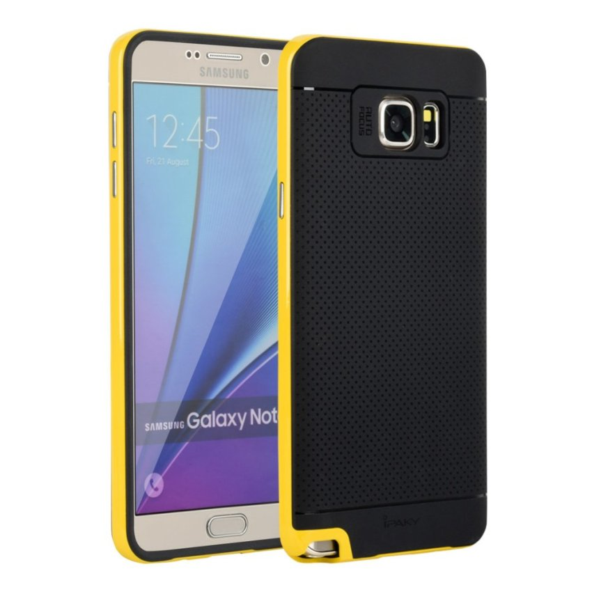 I3C Hot Selling Soft Bumper Original IPAKY Case for Samsung Galaxy Note 5 Orange Yellow