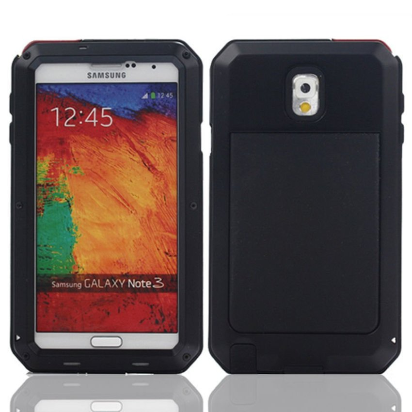 I3C Water/Shockproof Aluminum Gorilla Glass Metal Case Cover for Samsung Galaxy Note 3 Black