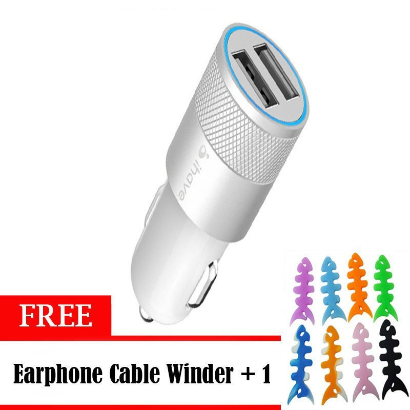 iHave Bullet Car Charger 2.1A - Silver
