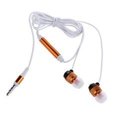 In-Ear Headphones Ear Bass Earbuds Headphones With MIC (Yellow) (Intl)