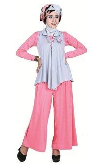 Inficlo Baju Gamis Katun Wanita Inficlo Spx 060 Pink