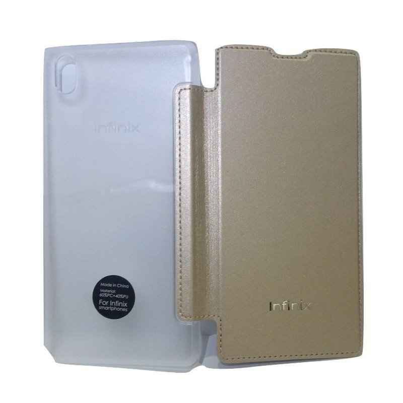 Infinix Flip Cover Original for X510 Hot 2 - Gold