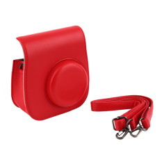 Instant Camera Leather Case Bag For Polaroid Photo Camera Leather Case Bag (Red) - Intl