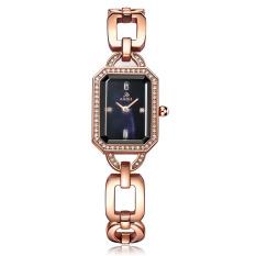 Iooilyu Love ADA Genuine Ladies Watch Fine Diamond Fashion Table Rectangular Steel Bracelet Type Watch Waterproof Luxury Temperament