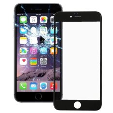 IPartsBuy Front Screen Outer Glass Lens With Front LCD Screen Bezel Frame For IPhone 6 (Black) - Intl