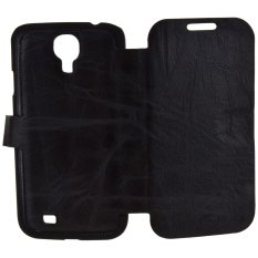 iStuff Dual Mode Finest Leather Case For Galaxy S4 - Hitam