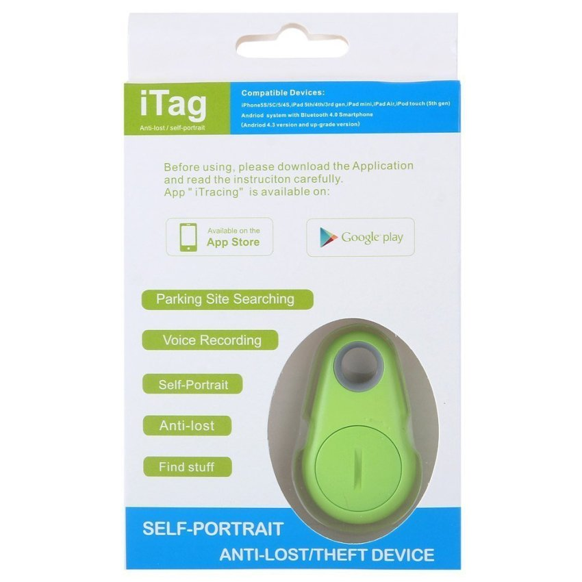 IT 06 Bluetooth V4.0 Anti-Lost Alarm Tracer Remote Control Self Timer for iPhone 4S 5 5S 5C iPad 3 4 mini iTouch 5 Android IOS System Smartphone (Intl)