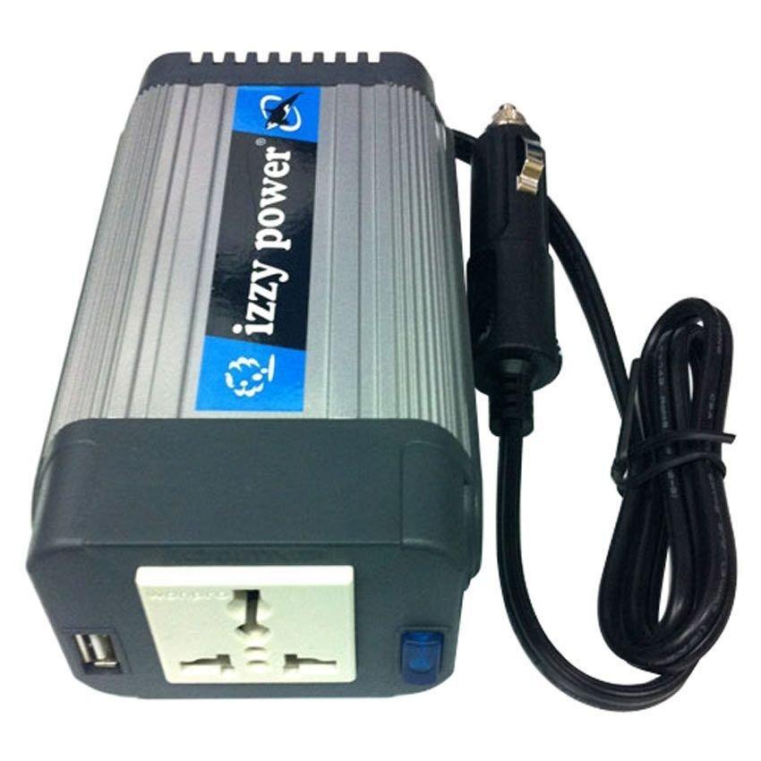 Izzy Power DC to AC Car Inverter HT-E-150-12 150 Watt 12 Volts - with Powerful USB Power Port