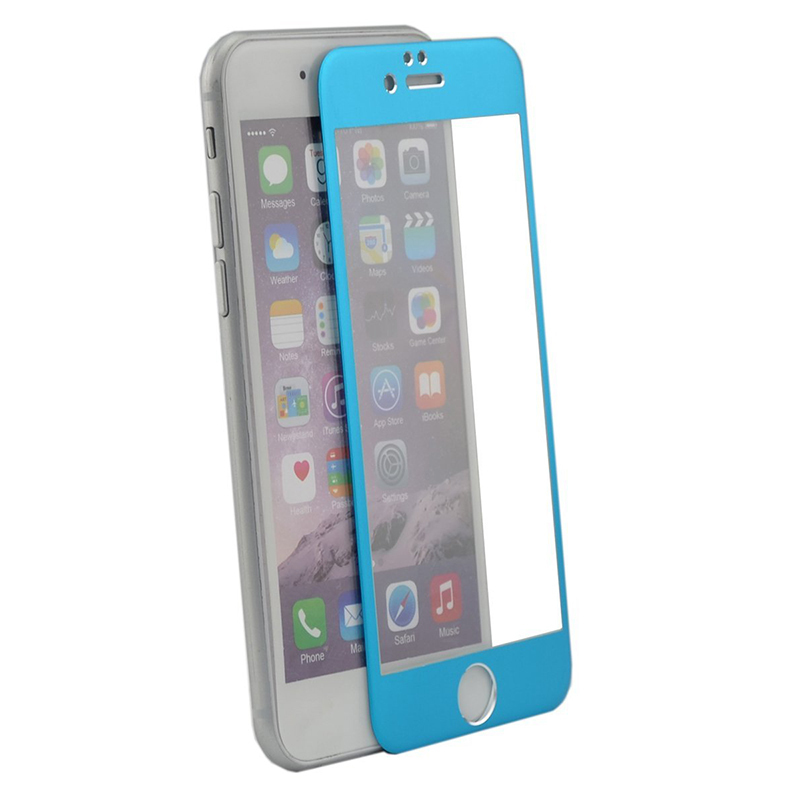 Jewelrybase Screen Protector Film Full-Cover for iPhone 6 Blue (Intl)