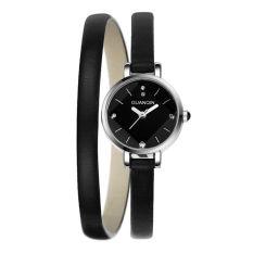 Jiage Crown Qin (GUANQIN) Female Small Dial Quartz Watch All-match Ladies Temperament Fashion Bracelet Watch GS065 Black Black