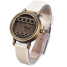 Jo.In Women Hot New Synthetic Leather Dress Watches Fenestration Retro Style Lady Wrist Watches (White) - Intl