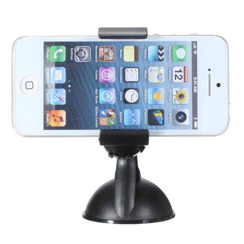 JOR 360°Rotating Car Windshield Suction Cup Mount Holder Bracket Stand for CellPhone (Black) (Intl)
