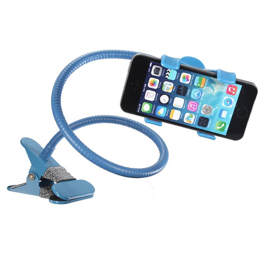JOR 360xUniversal Lazy Bed Desktop Car Stand Mount Holder for Cell Phone iPhone GPS Blue (Intl)