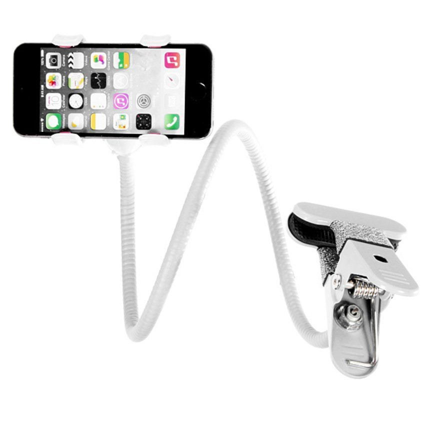 JOR 360xUniversal Lazy Bed Desktop Car Stand Mount Holder for Cell Phone iPhone GPS White (Intl)