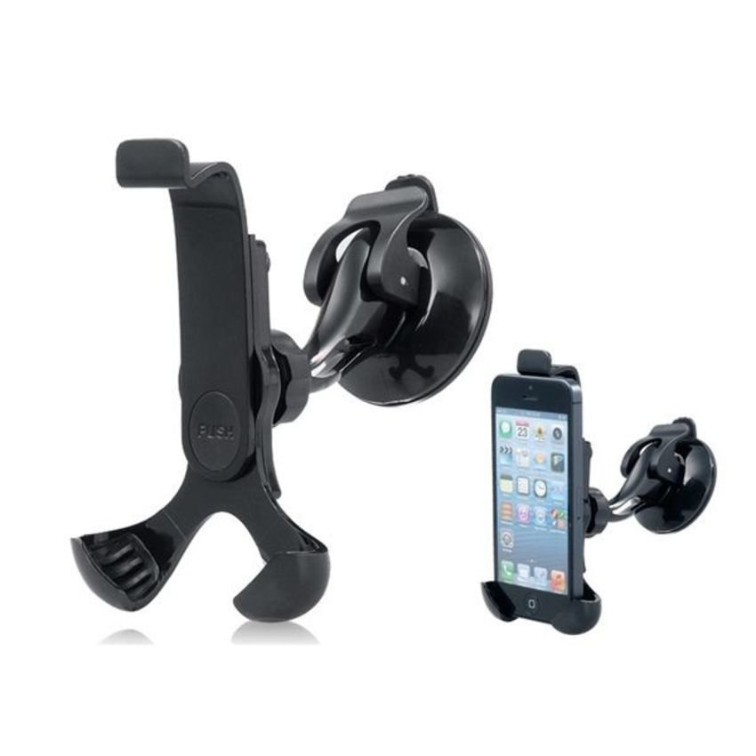 JOR 650 360 Degrees Rotatable Adjustable Car Stand with Suction Cup for iPhone5/4/4S/3GS/3G/iPod Touch/iPod Classic (Black) (Intl)