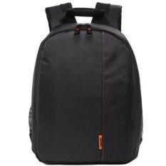 JoyliveCY Pattern SLR Camera Bag Backpack Video Photo Bags Small Compact Camera Backpack (Black&Orange) - Intl