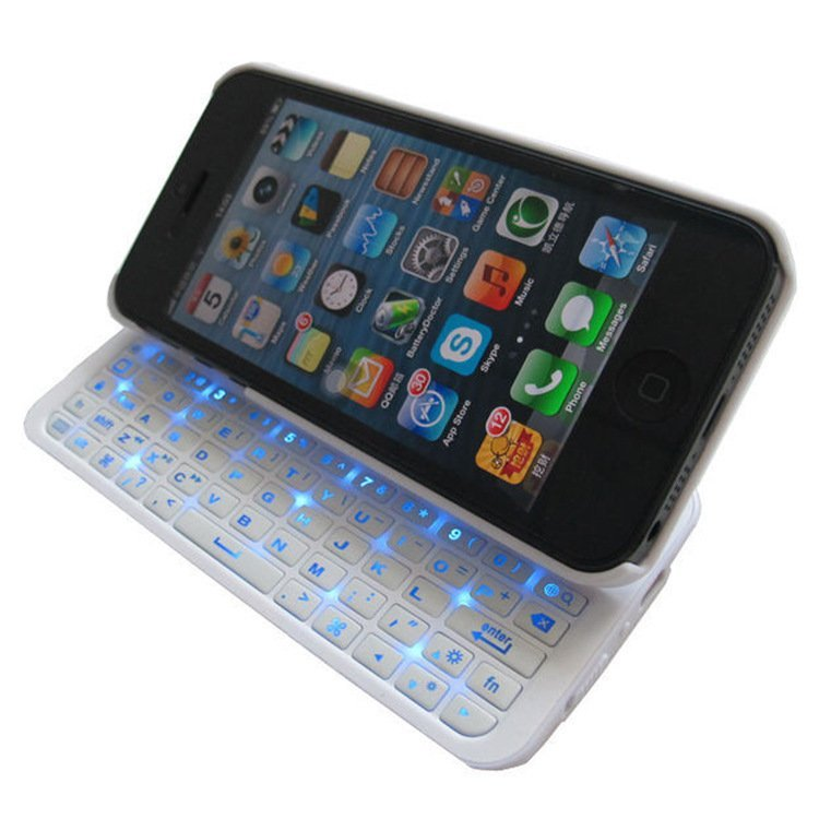 K-1281 Ultra Thin Bluetooth Wirless Keyboard Case for iPhone5/5s White