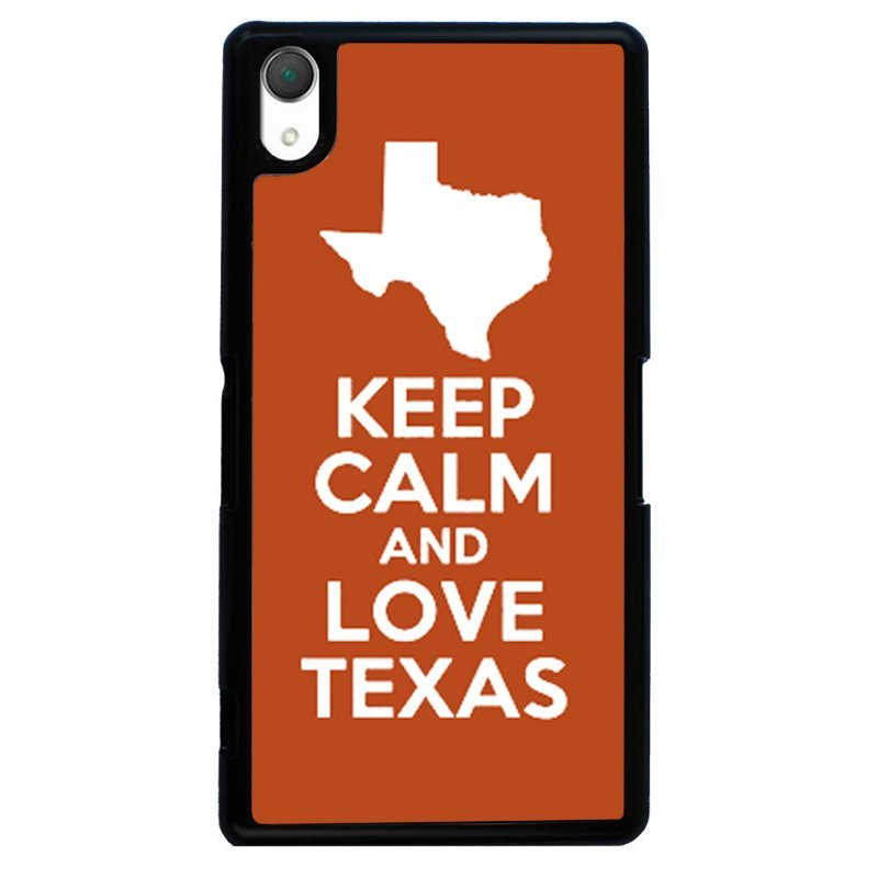 Keep Calm Love Texas Painting Phone Case for SONY Xperia Z4 (Black)