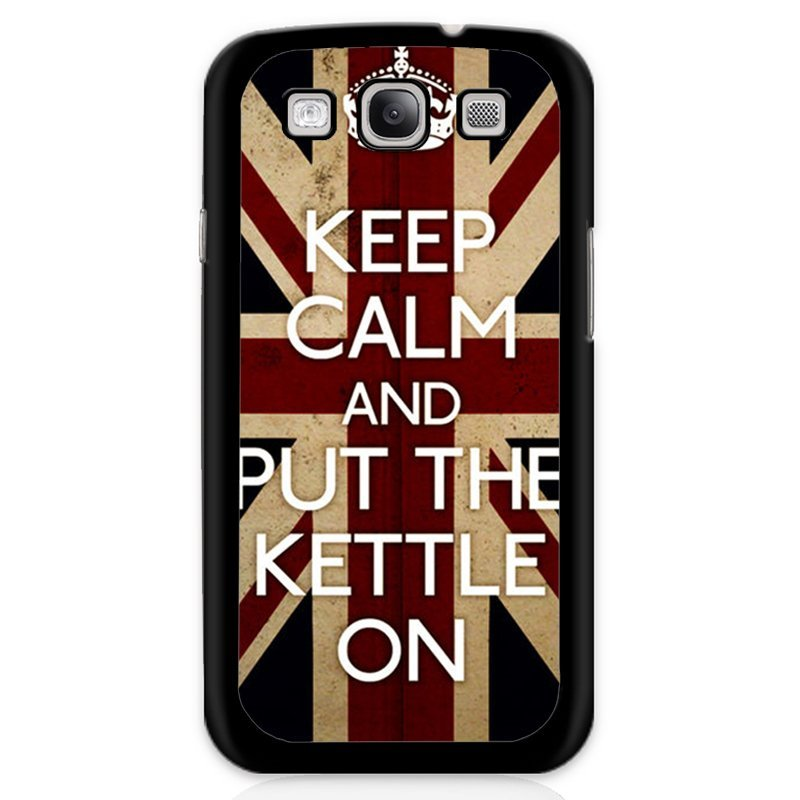 Keep Calm Union Flag Painting Phone Case for Samsung Galaxy S3 (Black)