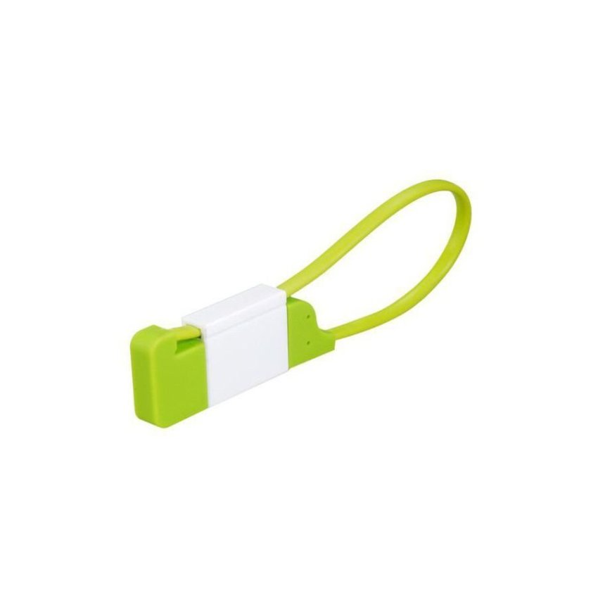 Key Chain Design Micro USB Data Cable Green
