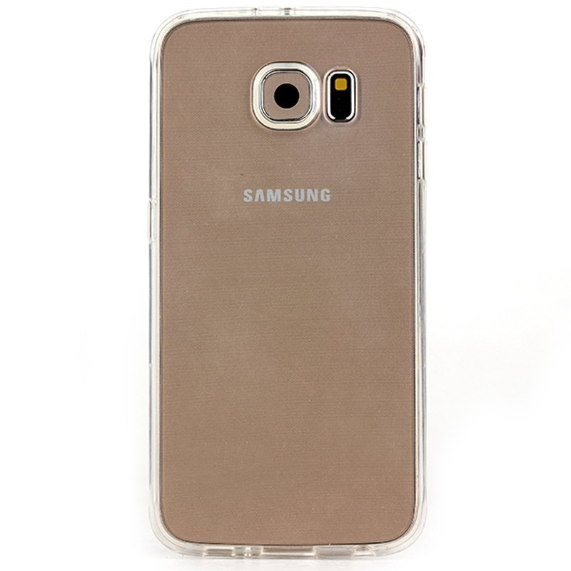 Kimi TPU Case Samsung Galaxy S6 Flat Fashion Protective Jelly - Clear Transparant