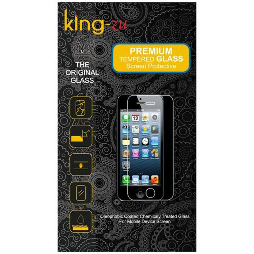 King-Zu Glass Tempered Glass Iphone 5 / 5C / 5S Depan dan Belakang - Premium Tempered Glass