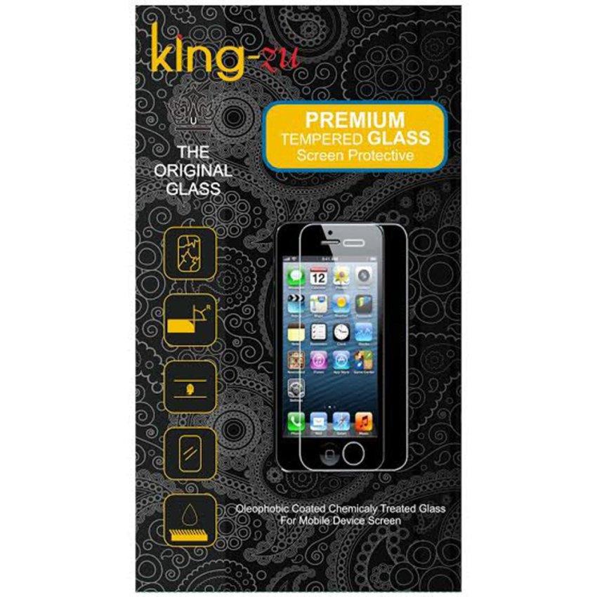 King-Zu Glass untuk LG L80 / D355 - Premium Tempered Glass Round Edge 2.5D