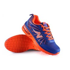 Kingdom Mall Men's Casual Mesh Breathable Running Shoes Jogger Sneakers Lace Up (Orange / Blue) (Intl)