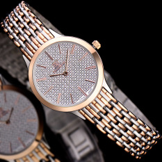 Kobwa Know When ZHISHI Ultra-thin Stainless Steel Star Studded Fashion Leisure Large Scale Steel Wire Nail Table Watchband 8808
