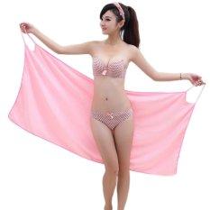 Lady Wearable Fast Drying Microfiber Bath Towel Beach Spa Bathrobes Bath skirt (Intl)