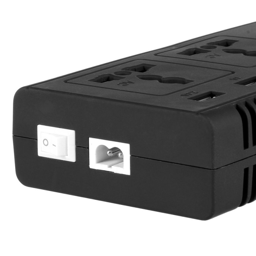 LAMKO CHE PU 4200PC 200W DC 12V to AC 110V Car Smart Power Inverter w/ 4-USB + Dual AC Sockets - Black (Intl)