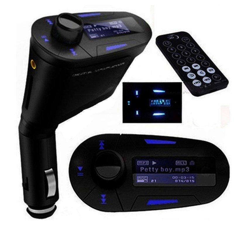 LCD Car Kit Bluetooth MP3 Player FM Transmitter Modulator SD MMC USB Remote Control (Intl)