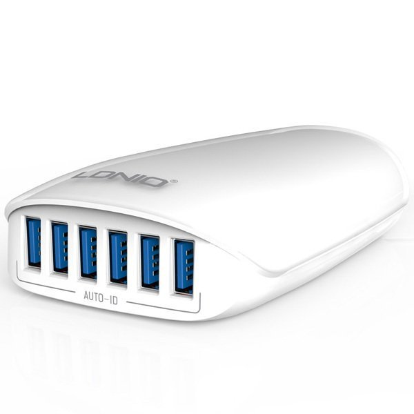 Ldnio Smart Travel Charger LDNIO A6573 5.4A 6 Ports - Putih